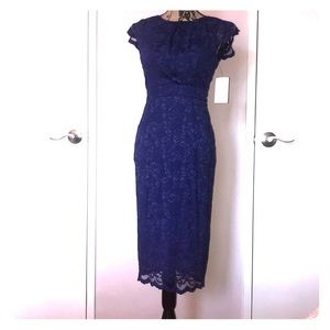 NWT blue lace dress by ABS size L